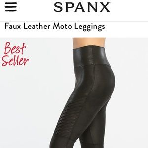 Faux Leather Moro Leggings NWT